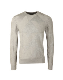 Armani Jeans Mens Grey Eagle Logo Jumper