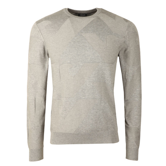 Armani Jeans Mens Grey Eagle Logo Jumper main image