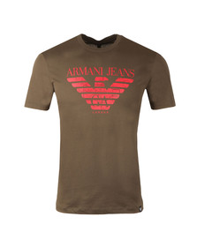 Armani Jeans Mens Green 6Y6T47 Logo T-Shirt