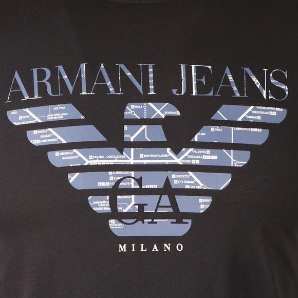 Armani Jeans Mens Blue 6Y6T47 Logo T-Shirt main image