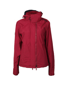 Superdry Womens Red Pop Zip Hood Arctic Windcheater