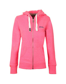 Superdry Womens Blizzard Pink Snowy Orange Label Primary Zip Hoody