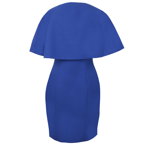 Ted Baker Womens Blue Porisa Bodycon Cape Back Dress main image