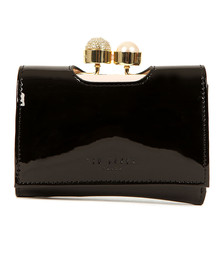 Ted Baker Womens Black Cattrin Crystal Pearl Bobble Small Purse