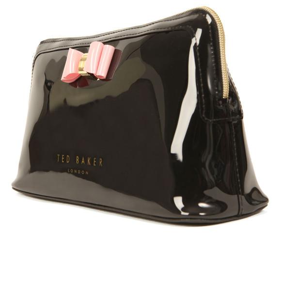 Ted Baker Womens Black Jana Bow Triangle Wash Bag main image