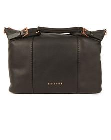 Ted Baker Womens Black Salbee Bridle Handle Medium Tote Bag