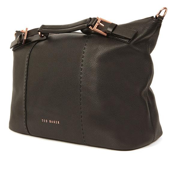 Ted Baker Womens Black Salbee Bridle Handle Medium Tote Bag main image