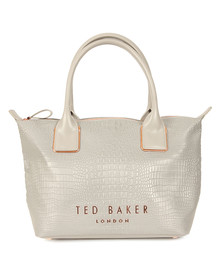 Ted Baker Womens Grey Remus Exotic Small Reflective Tote Bag