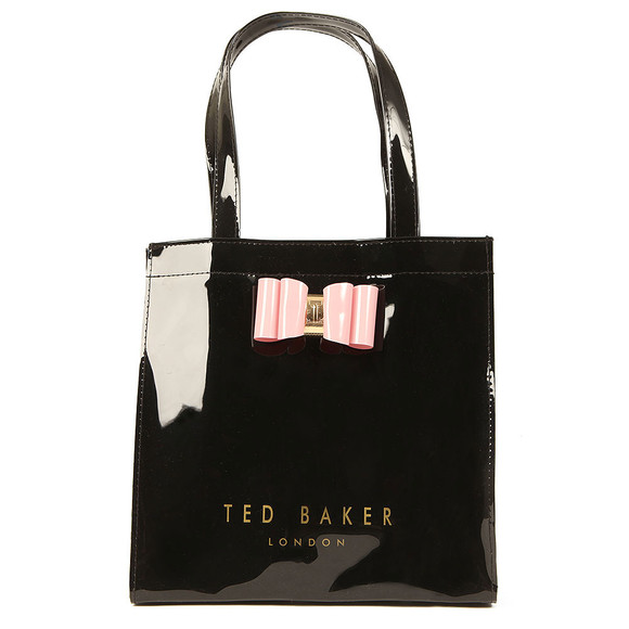 Ted Baker Womens Black Jenacon Bow Detail Small Icon Bag main image