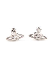 Vivienne Westwood Womens Silver Clotilde Stud Earring