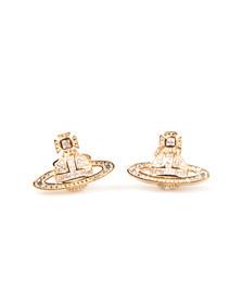 Vivienne Westwood Womens Gold Clotilde Stud Earring