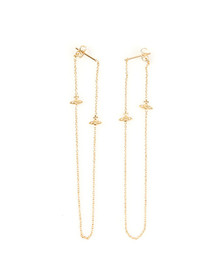 Vivienne Westwood Womens Gold Zia Earrings
