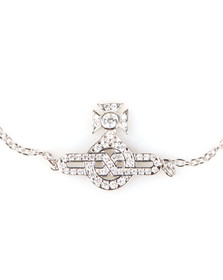 Vivienne Westwood Womens Silver Infinity Orb Bracelet