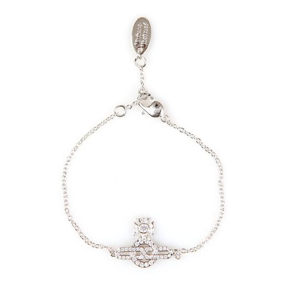 Vivienne Westwood Womens Silver Infinity Orb Bracelet main image