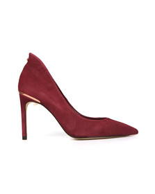 Ted Baker Womens Red Savio Suede Heels