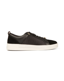 Ted Baker Womens Black Kulei Leather Trainer