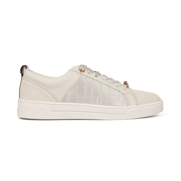 Ted Baker Womens Grey Kulei Leather Trainer main image