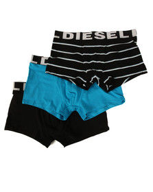 Diesel Mens Blue UMBX Shawn 3 Pack Boxer