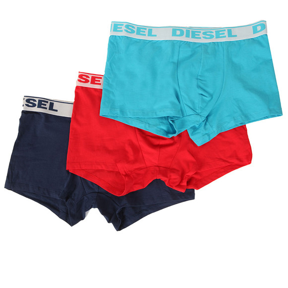 Diesel Mens Blue UMBX Shawn 3 Pack Boxer main image