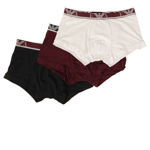 Emporio Armani Mens Red 3 Pack Stretch Trunks main image