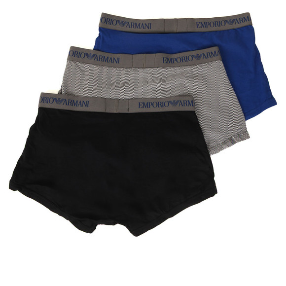 Emporio Armani Mens Blue 3 Pack Stretch Trunk main image