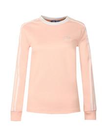 Adidas Originals Womens Pink 3 Stripes Long Sleeve T Shirt