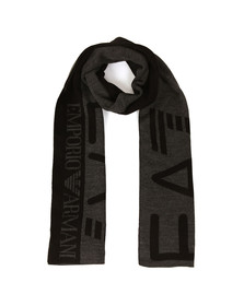 EA7 Emporio Armani Mens Grey Train Visibility Scarf