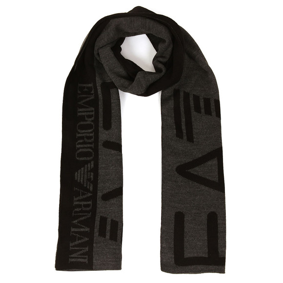 EA7 Emporio Armani Mens Grey Train Visibility Scarf main image