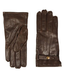 Belstaff Mens Brown Heyford Leather Gloves