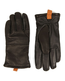Ugg Mens Black Casual Leather Glove