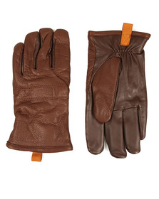 Ugg Mens Brown Casual Leather Glove