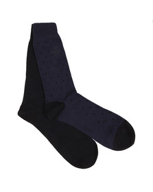 Gant Mens Blue 2-Pack Dot & Solid Socks