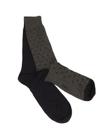 Gant Mens Grey 2-Pack Dot & Solid Socks