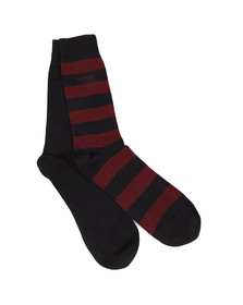 Gant Mens Red 2-Pack Bar Stripe Socks