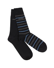 Boss Mens Blue 2 Pack Socks