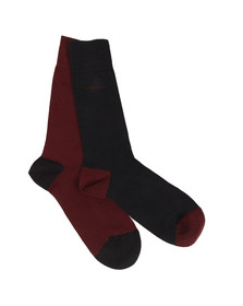 Boss Mens Red 2 Pack Socks