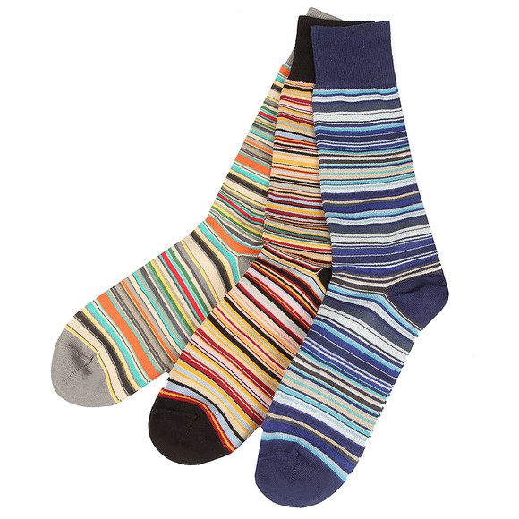 Paul Smith Mens Multicoloured 3 Pack Boxed Socks