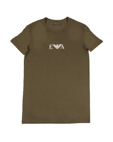 Emporio Armani Mens Green S/S Crew Neck T-Shirt