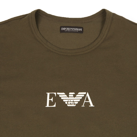 Emporio Armani Mens Green S/S Crew Neck T-Shirt main image