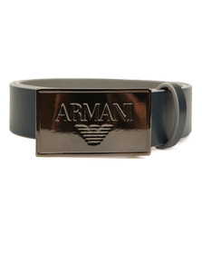Armani Junior  Boys Blue Plaque Logo Belt