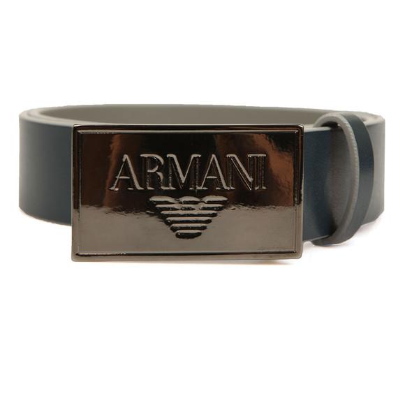 Armani Junior  Boys Blue Plaque Logo Belt main image
