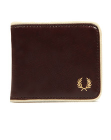 Fred Perry Mens Red Classic Billfold Wallet
