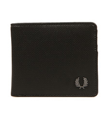 Fred Perry Mens Black Texture Billfold Wallet
