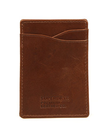 Superdry Mens Brown Premium Money Clip Wallet