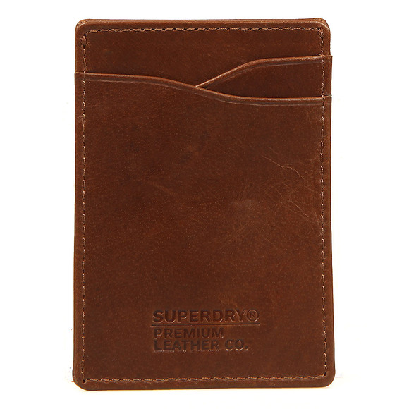 Superdry Mens Brown Premium Money Clip Wallet main image