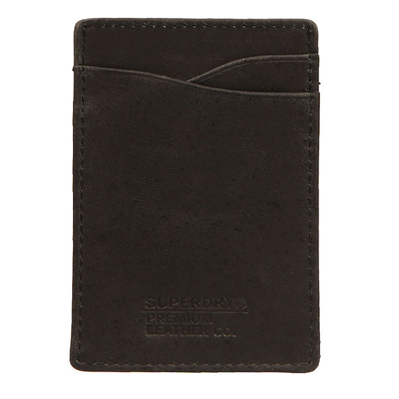 Superdry Mens Black Premium Money Clip Wallet main image