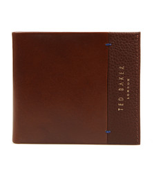 Ted Baker Mens Brown Slippin Leather Grain Bifold Wallet