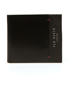 Ted Baker Mens Black Slippin Leather Grain Bifold Wallet