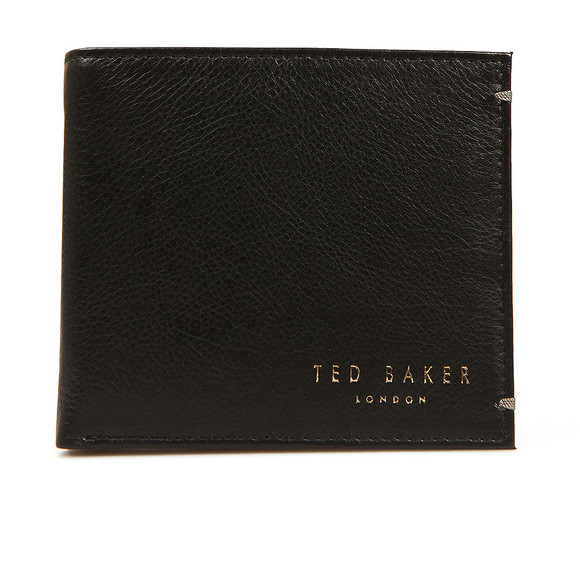 Ted Baker Mens Black Core Bi-fold Leather Wallet