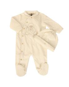 Armani Baby Boys Off-white Duck Logo Romper